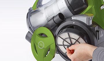 Forzaspira MC 330 Turbo - Filtro EPA a 4 gradi di filtraizone