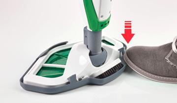 Scopa a vapore Vaporetto SV400 Hygiene - Dettaglio applicazione panno